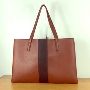 Vince Camuto 👑 Luck Tote Brown Vegan Leather Bag